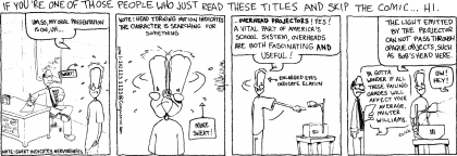"Comic strip: ""Overhead presentation"""